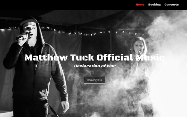 Matthew Tuck Official Music