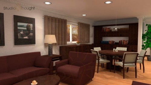 Living room interior visualization