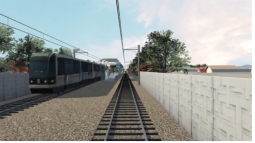 Expo Light Rail Animation