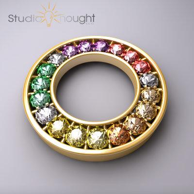 Protected: 3D Rainbow Diamond Pendant