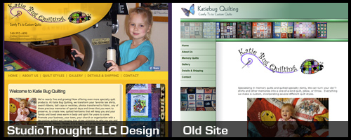 Katie Bug Quilting Website Redesign